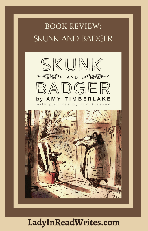 Skunk and Badger: Blog Tour and Book Review