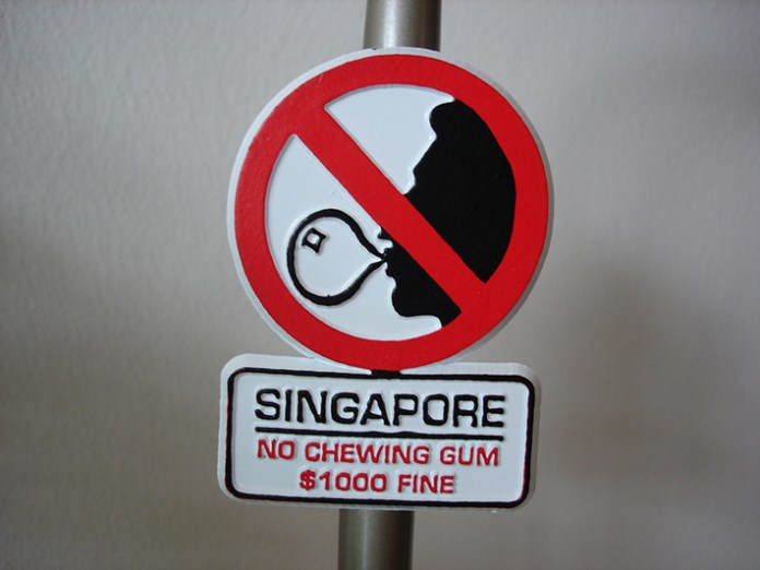 chewing gum ban