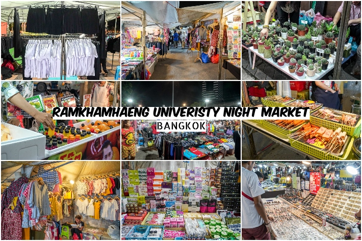 RAMKHAMHAENG UNIVERISTY NIGHT MARKET COLLAGE