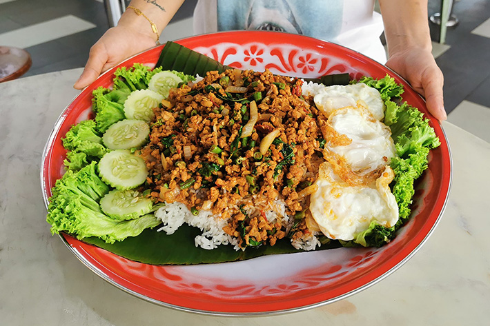 Im Thai Kitchen 40cm XXL Kapao Basil Leaf Pork Rice