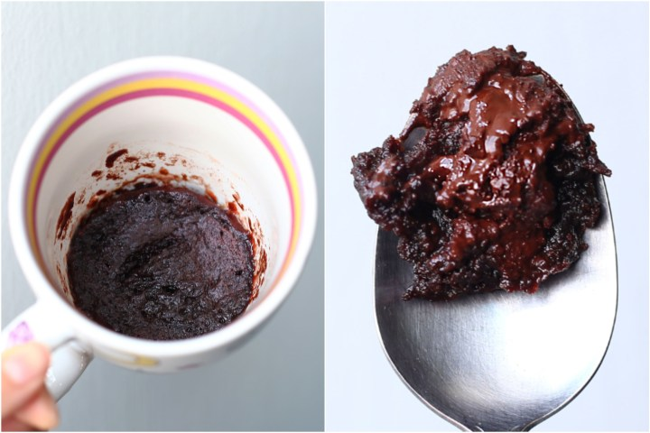 Microwave Chocolate Lava Cake Collage