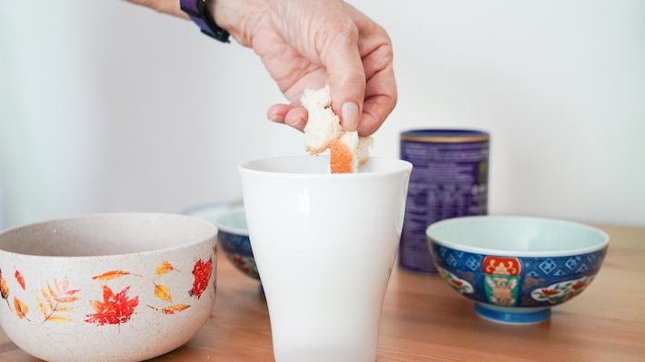 banana choc in a mug step 1