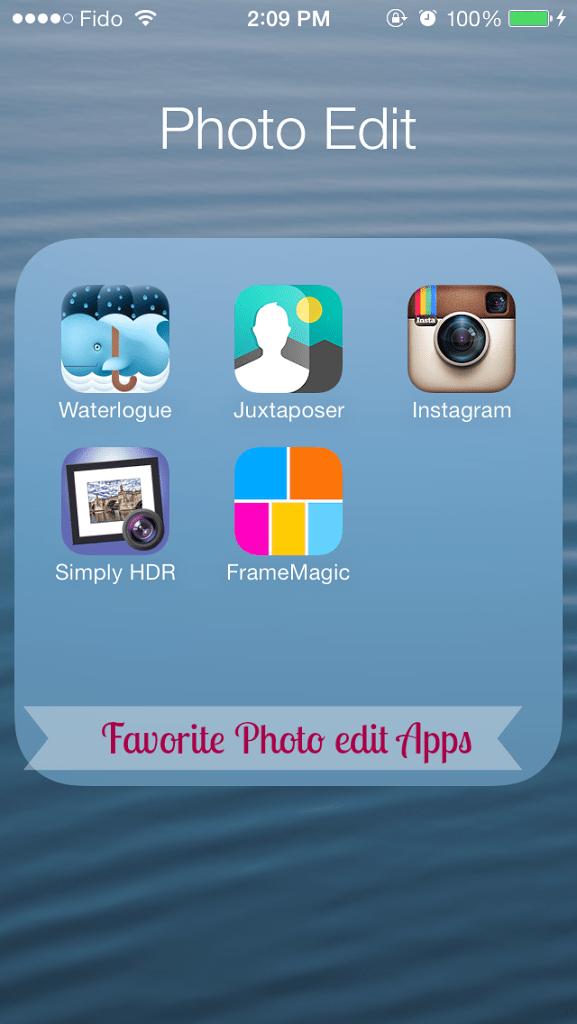 My Top 5 Favorite Photo Edit Apps
