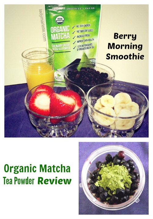 Matcha Green Tea Powder Review and Smoothie Recipe