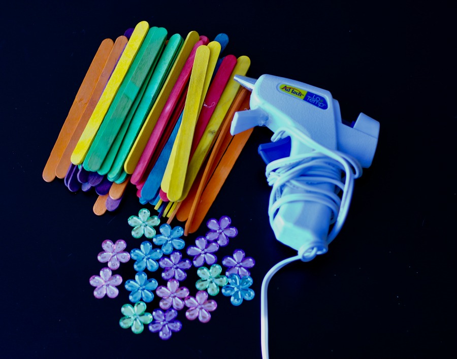 Popsicle Stick Spring Flowers