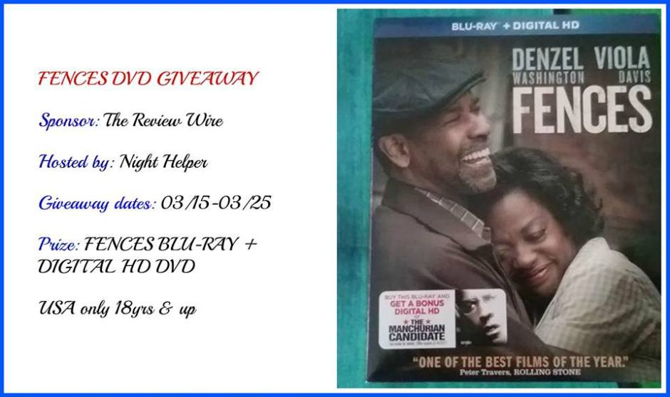 Fences DVD GIVEAWAY
