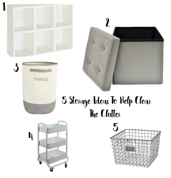5 Storage Ideas To Help Clear The Clutter