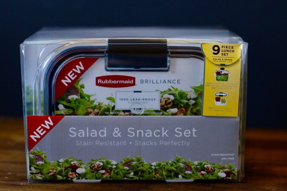 Rubbermaid BRILLIANCE Salad & Snack Set Giveaway – #StoredBrilliantly