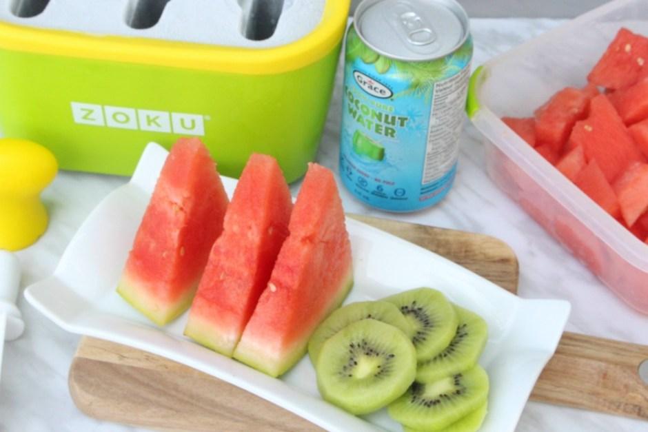 Easy Watermelon Coconut Water Frozen Popsicle