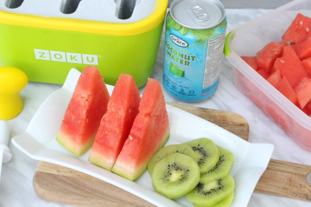Easy Watermelon Coconut Water Frozen Popsicle