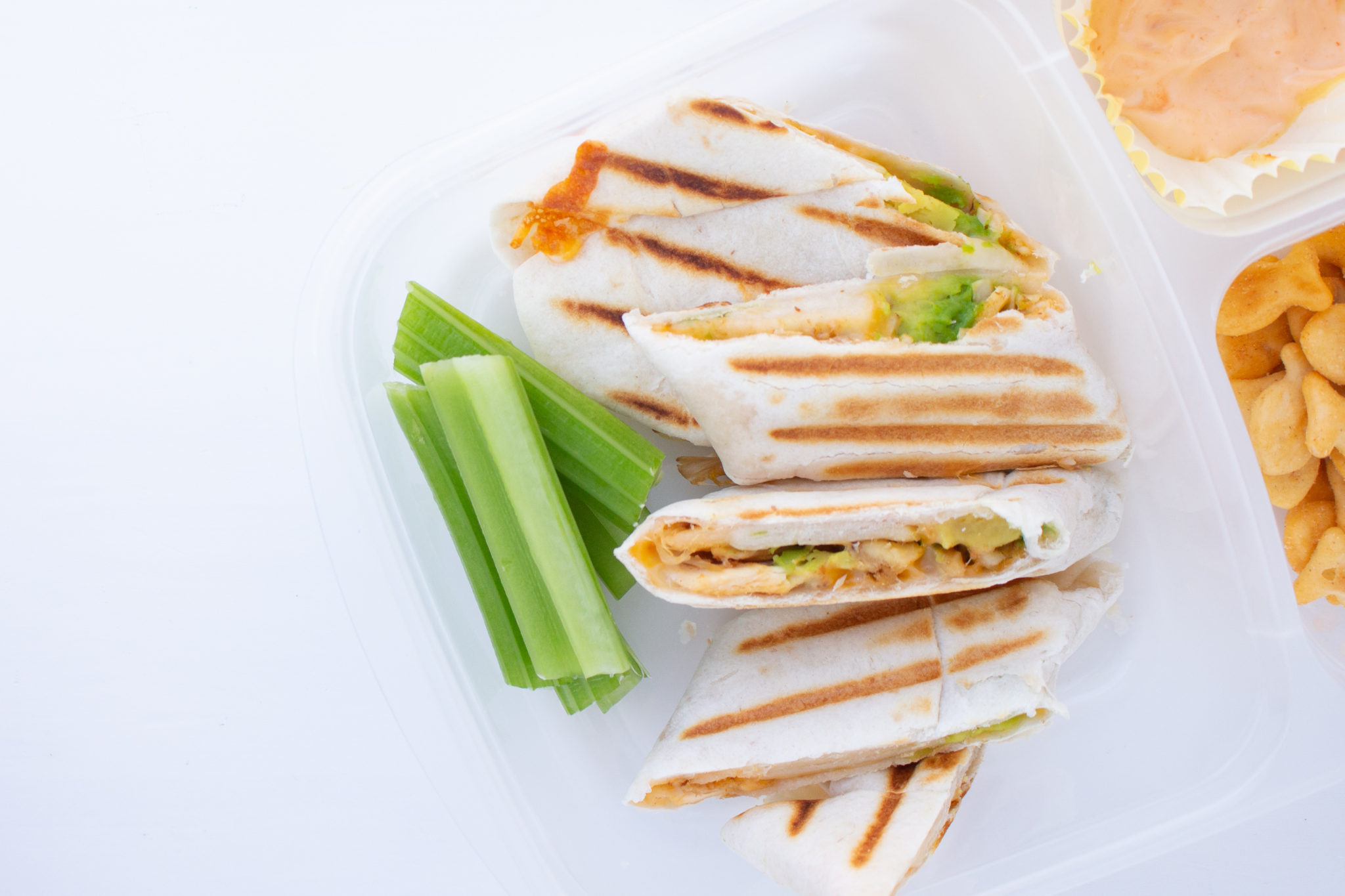 Kid Friendly Chicken Avocado Wrap Using A Panini Maker