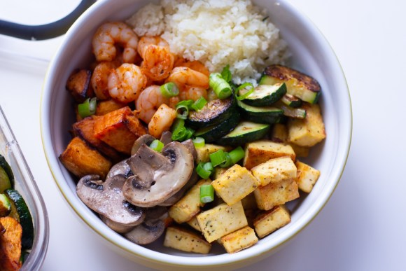 Cajun shrimp Buddha bowl
