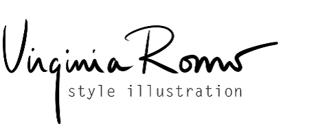 Virginia Romo Style Illustration