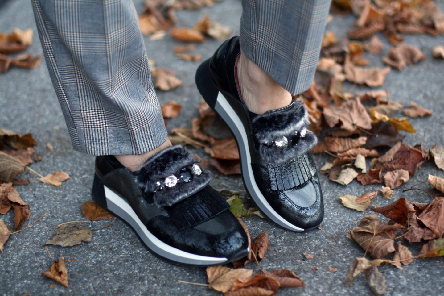 Easychic Herbsttrend Glencheck Sneakers 50plus LadyofStyle