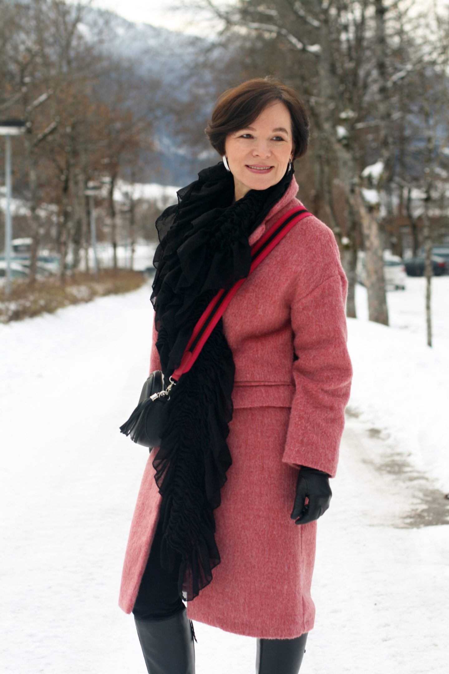 Wintermantel Rosa Pink 50plus Blogger LadyofStyle