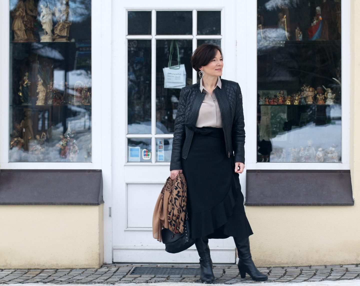 Stilmix Volants Lederjacke 50plus Blogger LadyofStyle