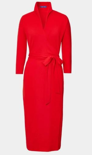 Rotes Wickelkleid von Winser London