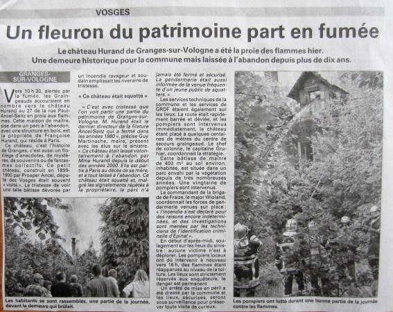 Vosges Matin - 29/06/14.