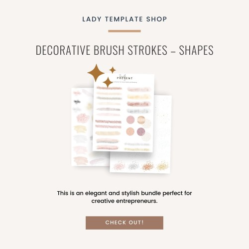 Decorative brush strokes – shapes