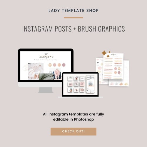 Instagram posts + Brush graphics