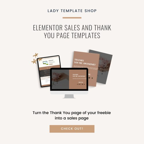 Elementor Sales And Thank You Page Templates