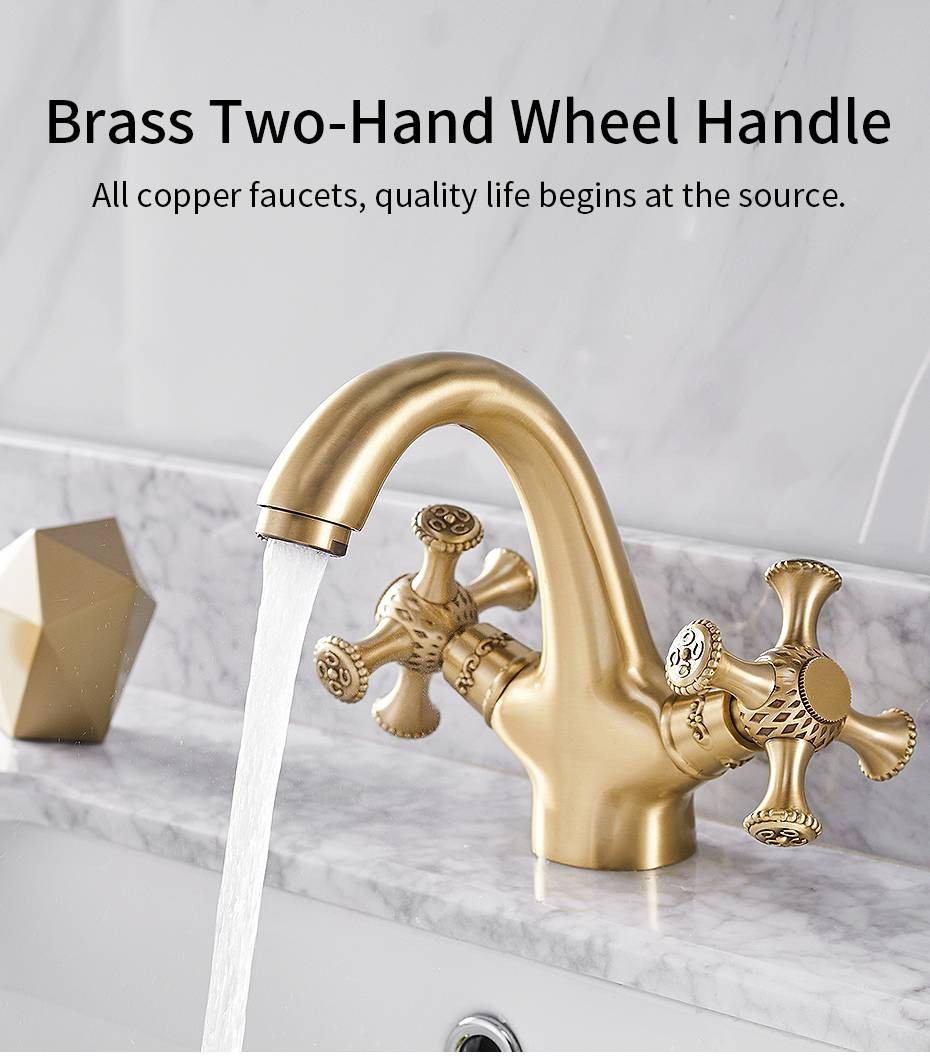 basin faucets bathroom sink mixer deck mounted single handle single hole bathroom faucet brass hot and cold tap lad 855722