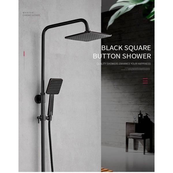 orb black bathroom hand held tub shower