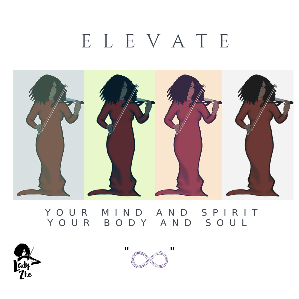 Elevate CD Cover Electric Violin Music by Lady Zhe