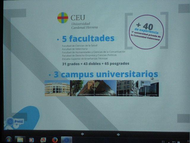Alumnos de 4º ESO con la Universidad Cardenal Herrera