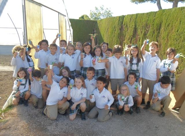 Plantamos clorofitos en Primaria