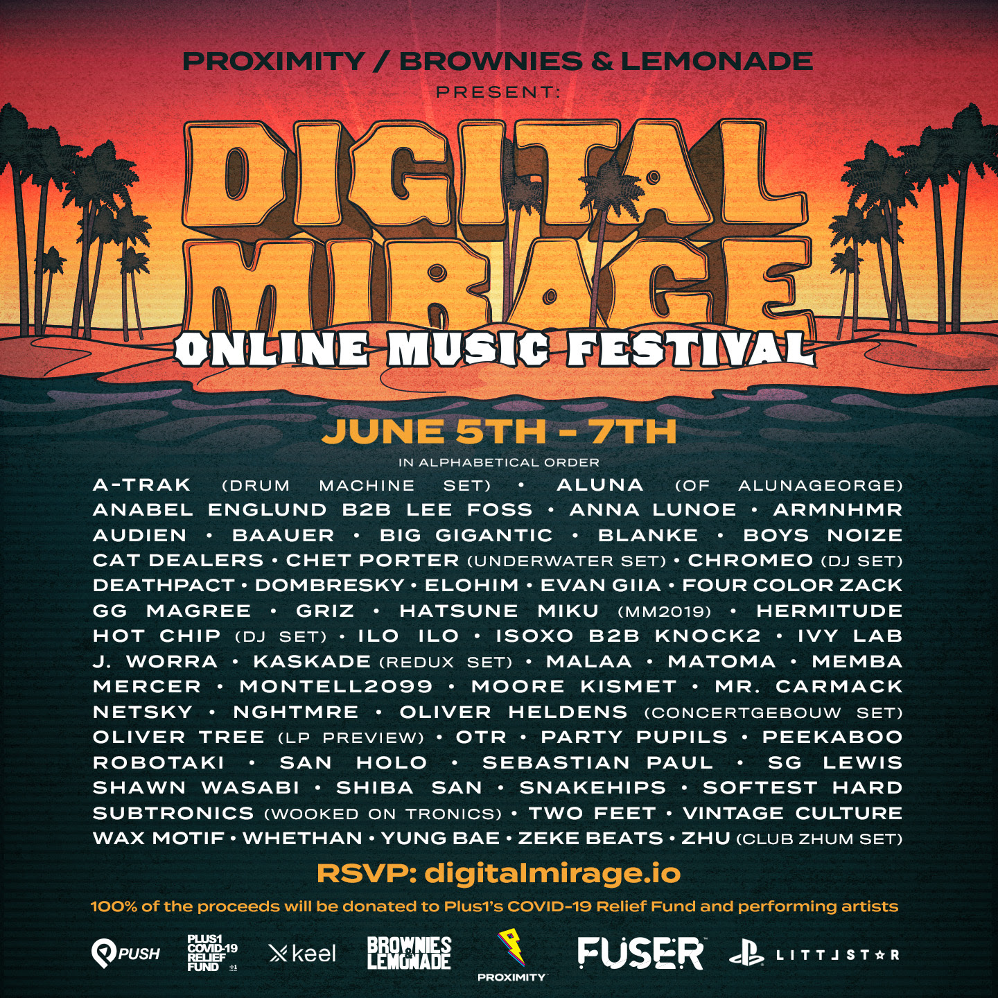 Digital Mirage 2 Lineup Featuring Artists