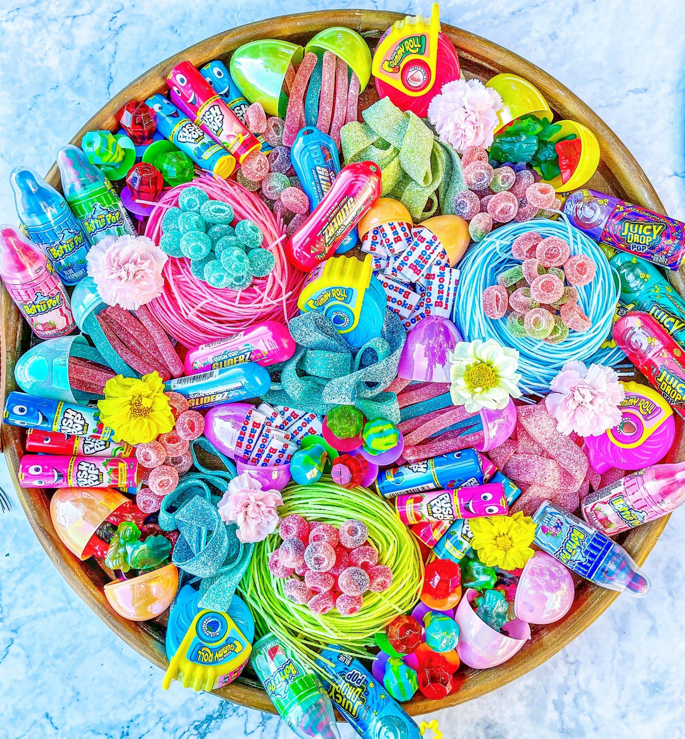 Candy Charcuterie Boards - Bazooka Candy