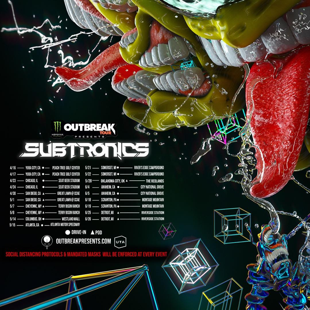 Subtronics x Monster Outbreak Tour Logo
