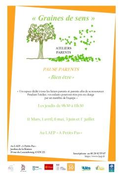 """Atelier Pause Parents """"Bien être"""""""