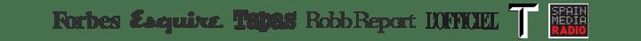 logos spainmedia forbes esquire tapas robb report l'officiel t magazina spainmedia radio