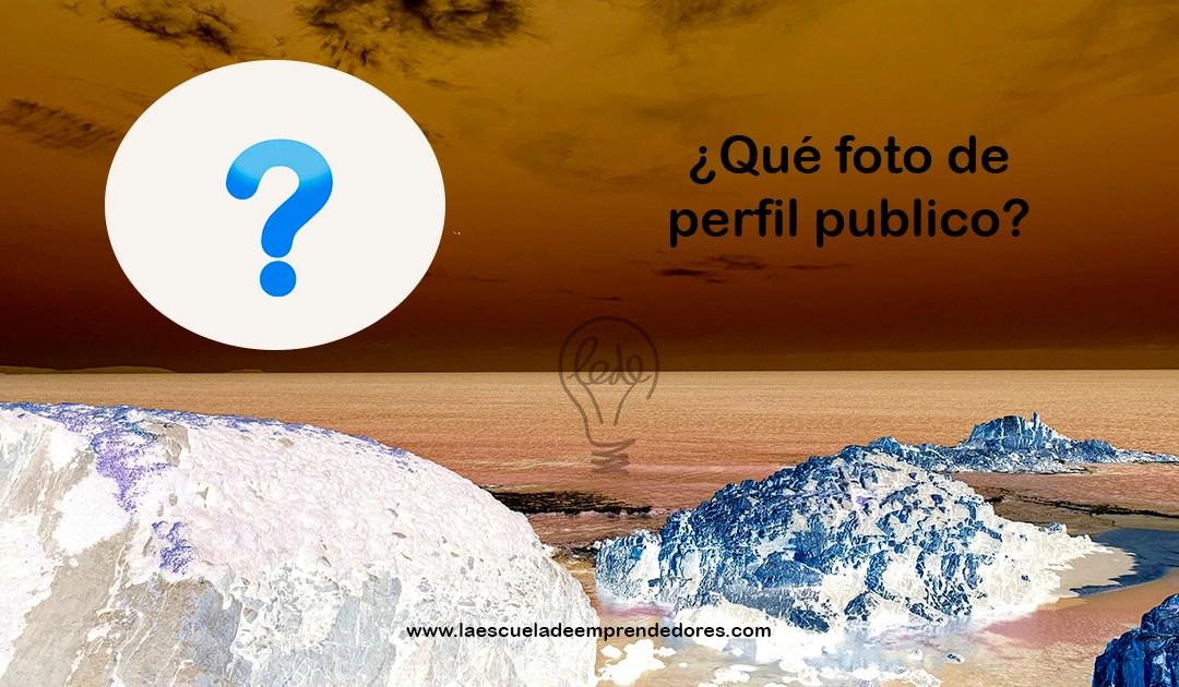 ¿Qué foto de perfil publico?