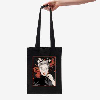 bolsa de tela eco feminidad ilustracion otoño chica feminismo camisetas bonitas bolsas bonitas laminas prints decoracion