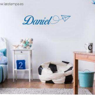 vinilo decorativo infantil personalizado con nombre decoracion de habitaciones de niños