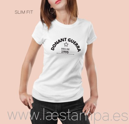 samarreta personalitzada donant guerra des de