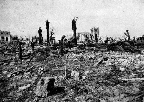 Casa Cuna y San Severiano desde el lugar de la explosión