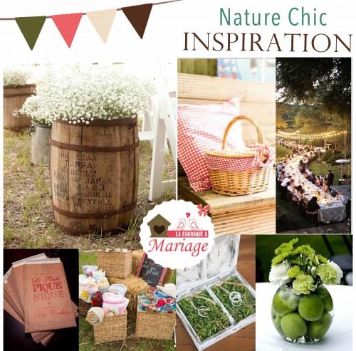 Inspiration mariage nature chic