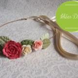 tuto headband fleuri DIY