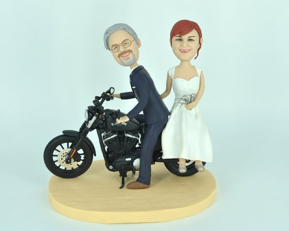 figurine moto - Figurine Gateau Mariage Personnalis