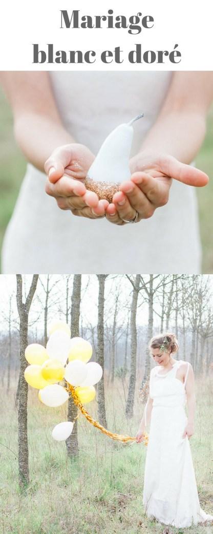 mariage blanc et doré