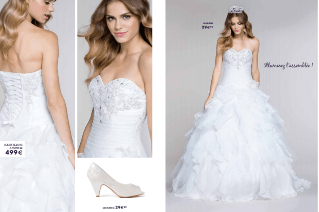 Tati mariage robe baroquis - La fabrique à mariage