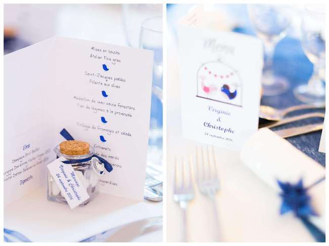 mariage thème bleu et oiseau- La fabrique à mariage