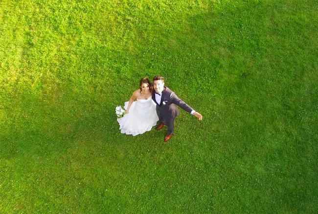 photo drone mariage couple - la fabrique a mariage