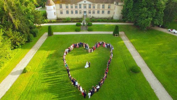 photo drone mariage photo coeur - la fabrique a mariage