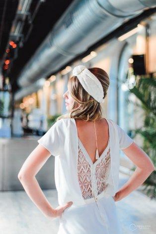 robe dos nu bijoux LES MARIEES FOX- pour mariage civil - la fabrique à mariage