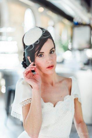 robe dos nu et voilette LES MARIEES FOX-mariage civil - la fabrique à mariage